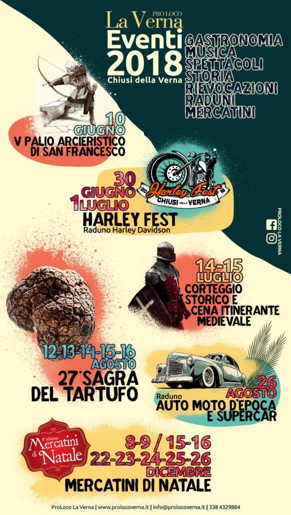 programma eventi 2018 Proloco La Verna