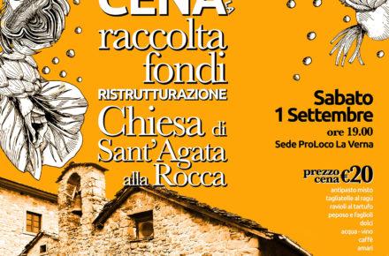 Cena per la raccolta fondi per la ristrutturazione della Chiesa di Sant'Agata alla Rocca