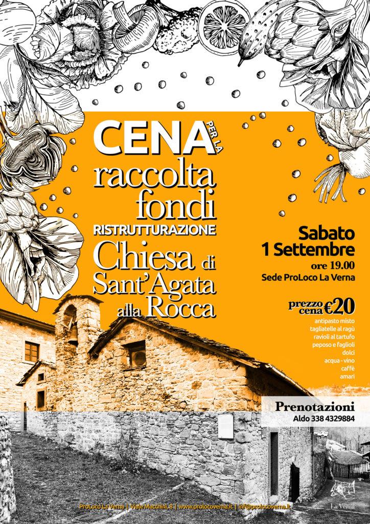 Cena raccolta fondi risrutturazione chiesa di Sant'Agata alla Rocca